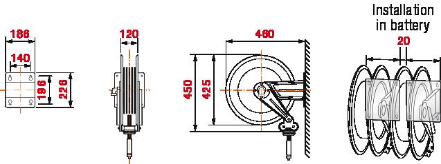 Dimensions-430-hose-reel