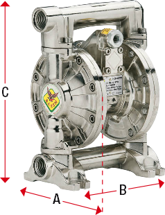 Dimensions-series-340-AB-diaphragm-pump-Permex-Raasm