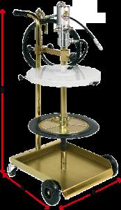 Dimensions-mobile-grease-dispenser-50-60kg-4 wheel trolley-Permex-Raasm