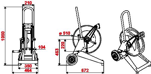 Dimensions-series-530-trolley-hose-reel